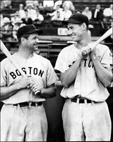Ted Williams Jimmie Foxx Photo 8X10 - 1939 Red Sox - Buy Any 2 Get 1 Free