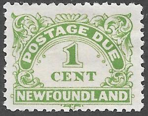 Newfoundland Scott Number J1 FVF HR Cat C$4.50