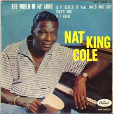"""NAT KING COLE """"THE WORLD IN MY ARMS"""" POP VOCAL JAZZ 60'S EP CAPITOL 1-20156"""