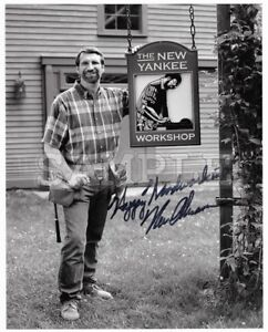 Norm Abram signed 8x10 Autograph Photo RP - Free Shipping! This Old House Yankee
