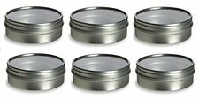 Nakpunar Tin Containers (2 oz Clear Top - Round - Style 2, Silver)