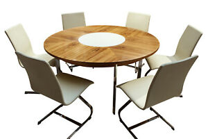 Retro Vintage rosewood dining table and matching chairs by Merrow Associates