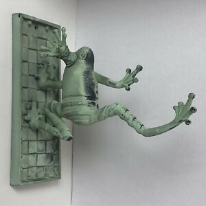 Mackenzie-Childs Frog Prince Wall Mount Green Plant Hanger Aluminum And Iron