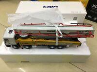 XCMG Benz Concrete Pump Truck Miniature HB26K HB62K-6X 1/35 Scale DieCast Model