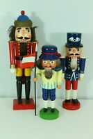 VTG Lot of Wood Nutcrackers Christmas Soldiers Decor Var. Sizes As Is Condition