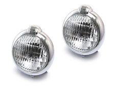 Pair Of Chrome Metal Headlights Headlamps Suitable For Caterham Kit Cars