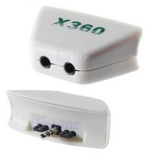 Headphone Headset Earphone Mic Converter Adaptor Plug For Xbox 360 Controller