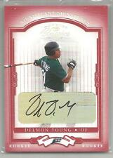 2004 Donruss Classics Baseball Delmon Young Autographed Rookie Card # 55/100