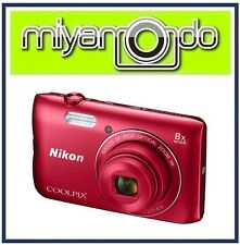 Nikon CoolPix A300 Digital Camera (Red) + 8GB + Case (M'sia)