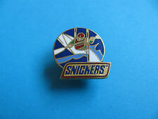 Snickers Bar pin badge. Confectionery, Chocolate. Enamel, Canoe.