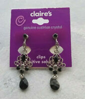 Claire's Genuine Austrian Crystal Clips Sensitive Solution Earrings