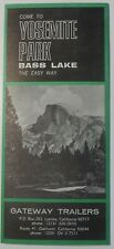 1950's Bass Lake YOSEMITE Advertising Brochure Gateway Trailers California