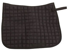 ALL PURPOSE ENGLISH HORSE TACK JUMPER TRAIL DRESSAGE BLACK QUILTED SADDLE PAD