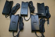 Lot of 5 Dell Genuine 65W PA-12 AC adapter charger PA-1650-05D2 F7970 w/ AC cord
