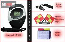 Brand NEW DELUXE bandiera con cordino, FISCHIO, Arbitro CARD & cronometro (sw005)