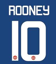 ROONEY 10 Manchester United 2017 EUROPA Via FINALE CALCIO Nameset per maglia