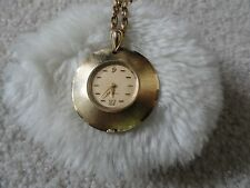 Caravelle Necklace Pendant Wind Up Watch