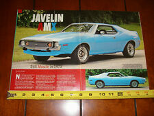 1973 AMC AMX JAVELIN - ORIGINAL 2007 ARTICLE