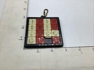 15 Keychain puzzle, sliding number squares, Vintage Toy, works.