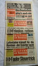 Vintage German Newspaper Lot Germany 1989 1990