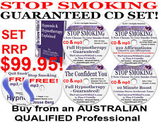 4 CD & 5 mp3 QUIT SMOKING SYSTEM HYPNOTHERAPY HYPNOSIS & FREE Stop Smoking mp3 s