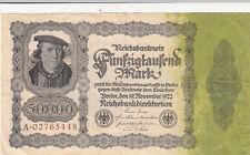 Billet banque ALLEMAGNE GERMANY 50000 REICHSMARK 1922 état voir scan 448