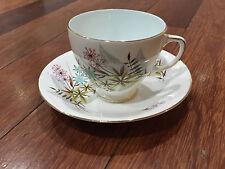 Vintage Wetley China Sampson Smith Porcelain Cup & Saucer w/ Blue Flowers Dec