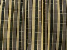 "Drapery Upholstery Fabric Reversible Yarn Dyed Faux Silk Plaid 60"" W - Charcoal"