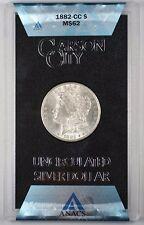 1882-CC GSA Hoard Morgan Silver Dollar $1 Coin ANACS MS-62 (1C)
