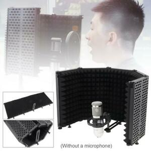 Microphone Isolation Shield 5-Panel Wind Screen Live Broadcast Recording Studio