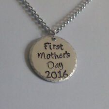"Custom Personalized 1"" or 1.25"" Aluminum Hand Stamped Necklace DESIGN YOUR OWN!"