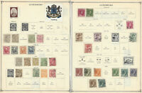 1882-1926 LUXEMBOURG STAMP LOT ON ALBUM PAGES, MINT, USED, OVERPRINTS