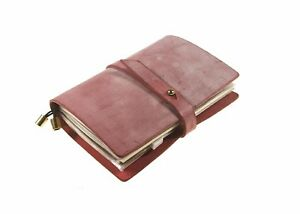 Leather Budget Planner Journal Notebook Organizer Academic Monthly Daily Pink