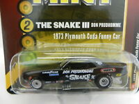 2018 RC 1:64  RACING CHAMPIONS MINT *THE SNAKE III* Don Prudhomme CUDA FUNNY CAR
