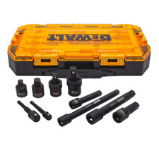 DEWALT 1/2 3/8 in Drive Impact Socket Drill Adapter Extension Tool Set 10 Piece