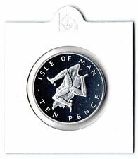 1977 Silver Proof Large 10p Ten Pence Coin Isle of Man