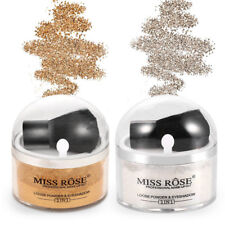 MISS ROSE Highlighter Contour Face Eye Makeup Foundation Loose Powder + Brush