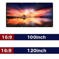 "100"" & 120'' Portable Foldable Projector Screen 16:9 3D HD Home Theater"