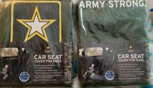 U.S.Army Strong Back Seat Covers 2  NIP For Dogs