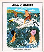 """PUBLICITE ADVERTISING 084  1975  BELLUS EN COULEURS """" ma planche a repasser"""""""