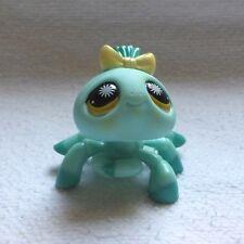 LITTLEST PETSHOP #866 / 2007 HASBRO SPIDER ARAIGNEE TURQUOISE YEUX JAUNE