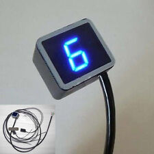LED Digital Gear Indicator Motorcycle Motorbike Display Shift Lever Sensor Blue