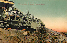 Vintage Postcard Dirt Spreader in Action Panama Canal Construction