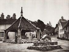 1926 Vintage UK England MARKET CROSS Wiltshire Architecture Photo Art E.O. HOPPE