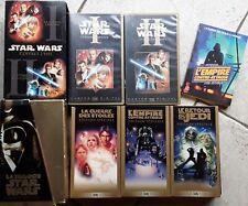 LOT COFFRET  VHS VINTAGE STAR WARS : 5 FILMS
