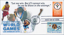 2015, Duel Stamp Cover, Special Olympics, World Games, Irvine CA, FDC, 15-124