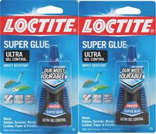 Loctite 1363589 Ultra Gel Control Rubber Super Glue 4 Gram Bottle  (2 Packs)