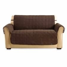 Sure Fit® Water Repellant Pet LOVESEAT Cover in Chocolate