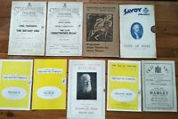 9 x Vintage Programmes Old Vic Savoy Streatham Hill Abbey Queen's Theatre Play