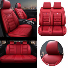 AU 5-Seats Car Seat Covers PU Leather Full Front+Rear Comfortable Universal Set